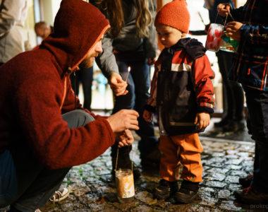 Svatomartinská slavnost v lesní školce Lesinka u Brna